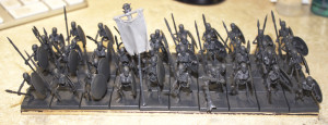 Unit of 40 Skeletons with Spears and Shields